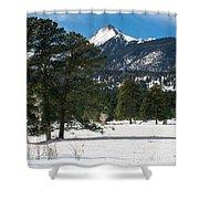 Wet Mountain Valley In Winter Shower Curtain