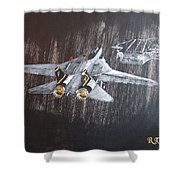 Wet Night Landing Shower Curtain