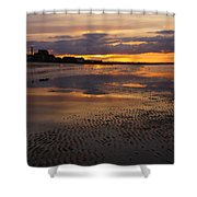 Wet Sand And Clouds 2 Shower Curtain