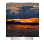 Wet Sand And Clouds Shower Curtain