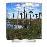 Wetland Palms Shower Curtain