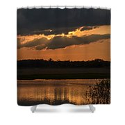 Wetland Sunset Shower Curtain