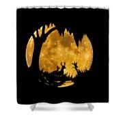 Wetland Wildlife Massive Moon .png Shower Curtain