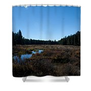 Wetlands In The Woods Shower Curtain