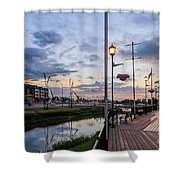 Embankment In Weyburn Shower Curtain
