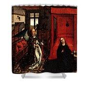 Weyden Annunciation Triptych Shower Curtain
