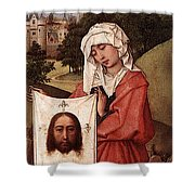 Weyden Crucifixion Triptych  Right Wing  Shower Curtain