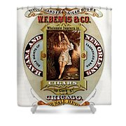 W.f.bemis And Co - Tivoli Garden Cigar Store - Vintage Advertising Poster Shower Curtain