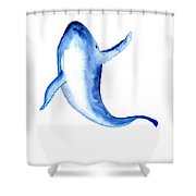 Whale 3 Shower Curtain
