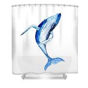 Whale 4 Shower Curtain