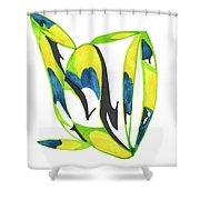 Whale Flow Shower Curtain