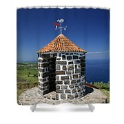 Whale Lookout Spot Shower Curtain