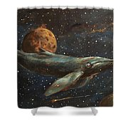 Whale Of The Universe Shower Curtain