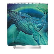 Whale Tohora By Reina Cottier Shower Curtain