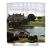 Whalehead Club And Boathouse Shower Curtain