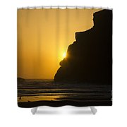 Whales Head Beach Oregon Sunset 2 Shower Curtain