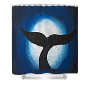 Whales Tale Shower Curtain