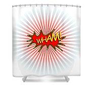 Wham Explosion Shower Curtain