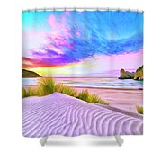 Wharariki Beach Shower Curtain