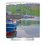 Wharf Near Angelmo Fish Market In Puerto Montt-chile  Shower Curtain
