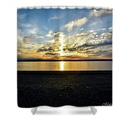 What A Sunset Shower Curtain