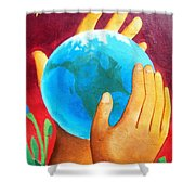 What A Wonderful World ... Shower Curtain