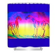 What Are We Waiting For Again  Shower Curtain