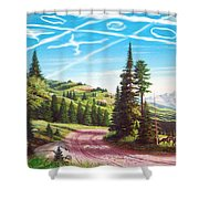 What Can The Poor Deer Do Shower Curtain