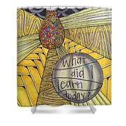 What Did I Learn? Shower Curtain