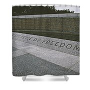 What Does Freedom Cost? Shower Curtain