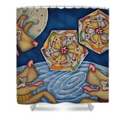 What Dogs Dream Shower Curtain
