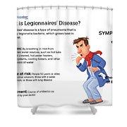 What Is Legionnaires' Disease? Shower Curtain