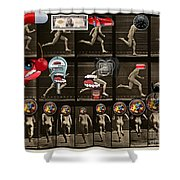 What Is Love? Backside Effects - The Ex-lax Of The Mind Shower Curtain