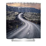 What Lies Ahead Shower Curtain