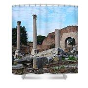 Basilica Aemilia Shower Curtain