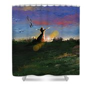 What's The Story Morning Glory Shower Curtain