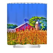 Wheat Farm Near Gettysburg Shower Curtain