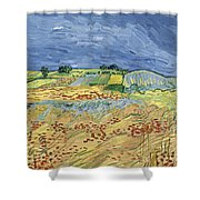 Wheat Field With Stormy Sky Shower Curtain