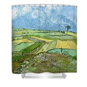 Wheat Fields After The Rain, The Plain Of Auvers Shower Curtain
