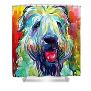 Wheaten Terrier Dog Portrait Shower Curtain