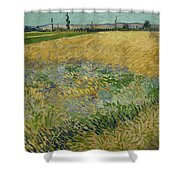 Wheatfield Arles, June 1888 Vincent Van Gogh 1853 - 1890 Shower Curtain