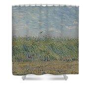 Wheatfield With Partridge Paris, June - July 1887 Vincent Van Gogh 1853 - 1890 Shower Curtain