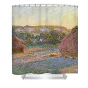 Wheatstacks, End Of Summer Shower Curtain
