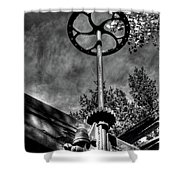 Wheel And Gear Shower Curtain