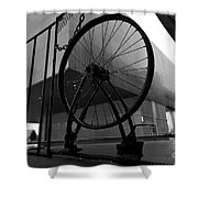 Wheel Art Shower Curtain