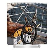 Sailingship Wheel Shower Curtain