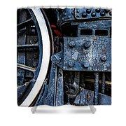 Wheel In Black II Shower Curtain