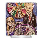 Wheel Of Fortune Pat Sajak And Vanna White Shower Curtain