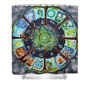 Wheel Of The Year Shower Curtain