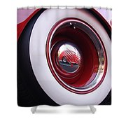 Wheel Reflection Shower Curtain